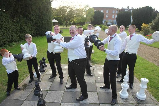 Bannatyne Spa Hotel : The boys playing with the Chess pieces