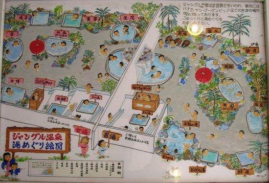 Okudogo Ichiyunomori: Jungle Spa map