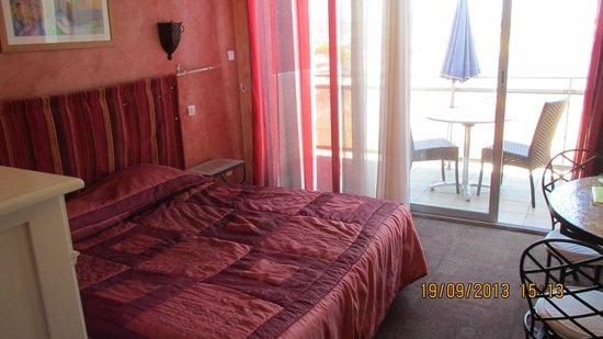 Hôtel La Potinière : chambre double côté mer