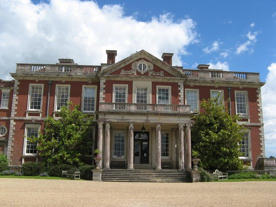 Stansted Park: The main entrance for the house