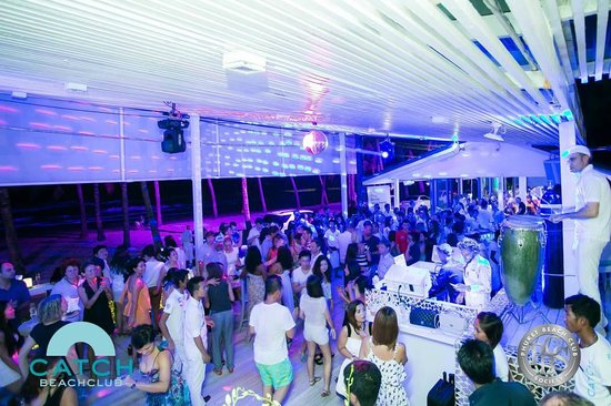 Night Parties at Catch Beach Club on Surin Beach