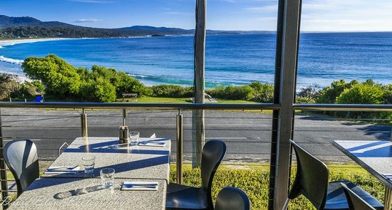 Moresco Restaurant : The amazing view from our front tables, courtesy of David Blunt Photography