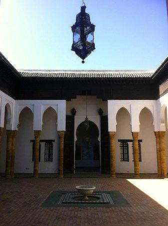 Oudaia Museum : Museo Nacional de la Joyeria, Kasbah de los Oudayas, patio central