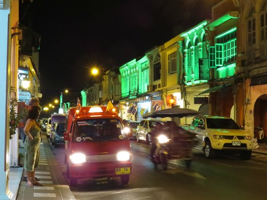 Phuket Heritage Trails Tours: in town at night