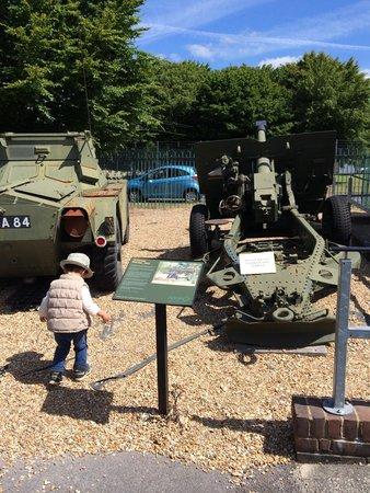 Aldershot Military Museum: My boy loves them much