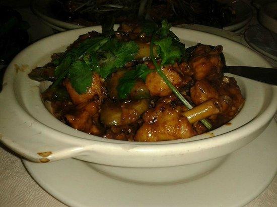 Oversea Chinese Restaurant: Chicken with bittergourd in black bean sauce