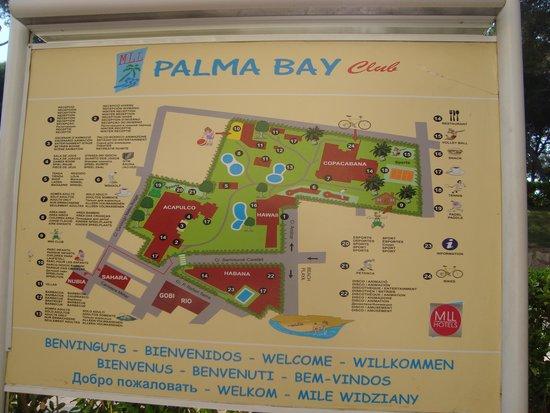 Palma Bay Club Resort: Mapa