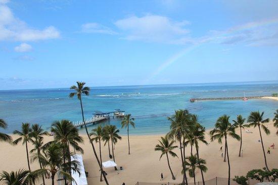Hilton Hawaiian Village Waikiki Beach Resort : View from our balcony