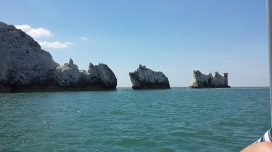 The Needles from the boat ride