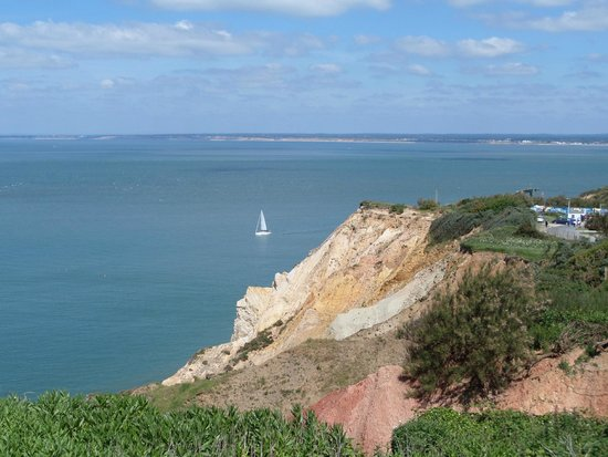 The Needles : View from the cliff walk