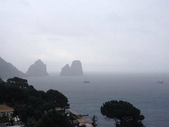 Hotel Weber Ambassador Capri : View from terrace, room 228