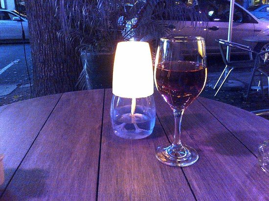 A lovely glass of Rose at Java Cafe