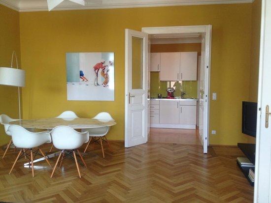 Hotel Altstadt Vienna: Blick auf Küche
