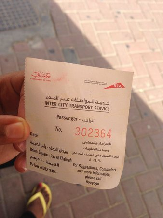 Ras Al Khaimah Hotel: Ticket price from Dubai to RAK by Bus for customers on a budget