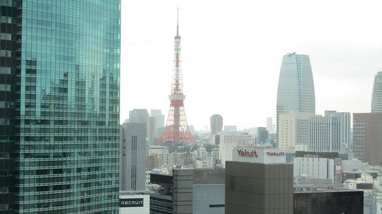 Tokyo Tower by day from Mitsui Garden Hotel