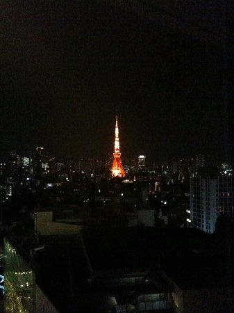 Tokyo Tower by night from Mitsui Garden Hotel