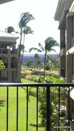 The Bay Club at Waikoloa Beach Resort: Another view from the patio/lenai