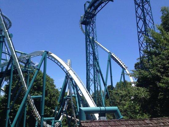 Theme Park Review - Alpengeist Roller Coaster POV   Facebook