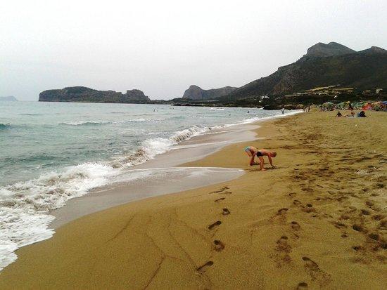 Falassarna Beach: il mediocre spiaggione centrale