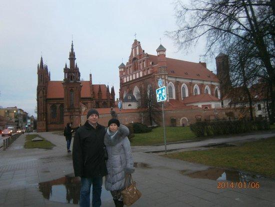 Vilnius Old Town: жители поддерживают памятники в хорошем сост.