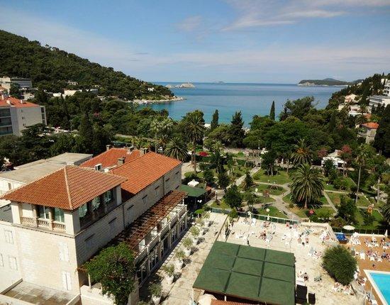 Lapad: bay from hotel room