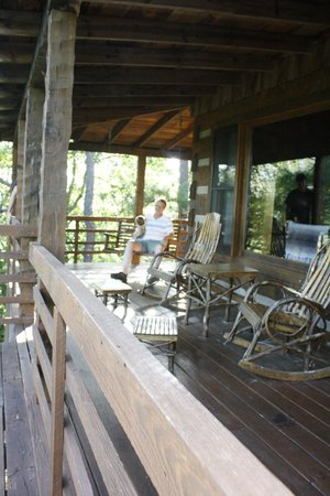 Smoky Mountain Lodging: the porch at Tyler's Way