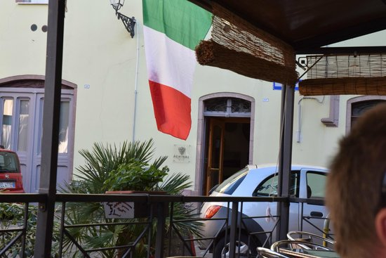 Albergo Diffuso Aghinas: Entry of Aghinas and the Bar/Restaurant just nearby