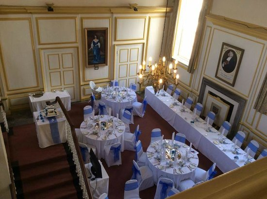 Middleton Hall: Great Hall set up for a Wedding Breakfast