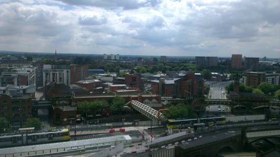 Hilton Manchester Deansgate : View from our room on the 10th floor
