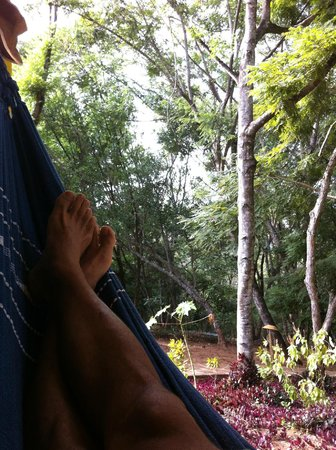 Pousada Canto No Bosque: Varanda do Bangalô