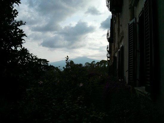 San Domenico Palace Hotel: L'Etna vu des jardins