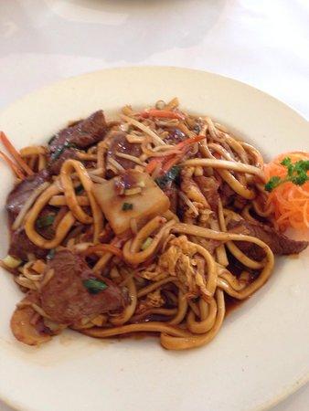 Indochina Thai Restaurant: Noodles with Kangaroo and schezuan sauce.