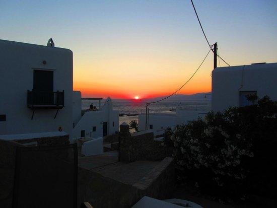 Ledra Apartments: Sunset from balcony