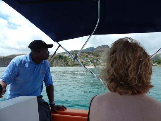 Israel King Water Taxi  Private Tours : Jerome telling us about the sights