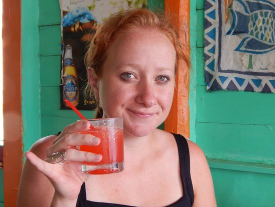 Israel King Water Taxi  Private Tours : Enjoying a delicious rum punch