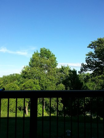 South Sterling, PA: view from the room balcony