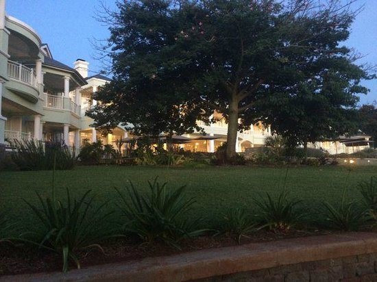 Hemingways Nairobi: looking up at the main building from the lawns
