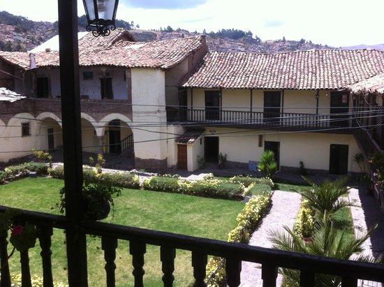 Hostal Llipimpac: vista desde el balcon de la habiacion