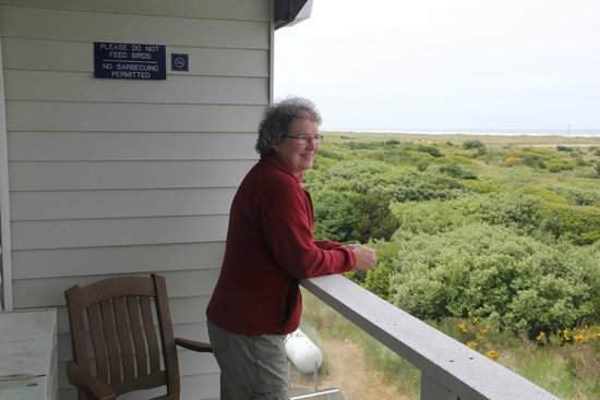 Quality Inn - Ocean Shores: Viewing the ocean from the balcony