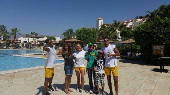 Movenpick Resort Sharm El Sheikh Naama Bay: My children with the amazing animation team.