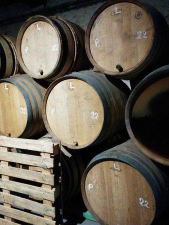 Brasserie Cantillon : Botti di castagno
