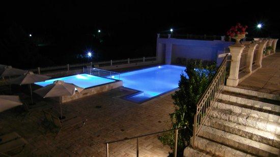 Almyra Hotel: Almyra's pool by night