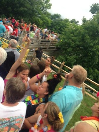 Blossom Music Center: the crowd being funneled into checkpoint