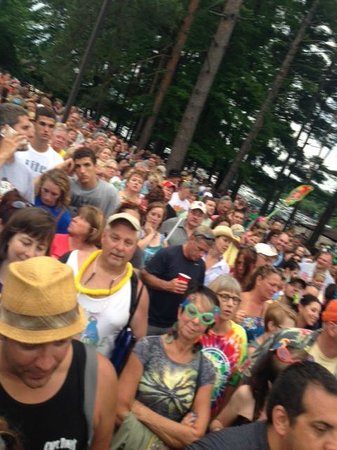 Blossom Music Center: the line went back as far as I could see