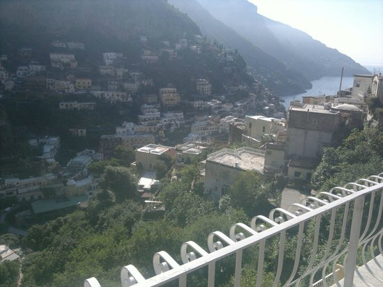 Villa Verde: view over Positano