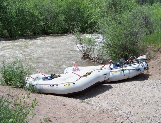 Mild to Wild Rafting and Jeep Trail Tours: Launch point on San Miguel River