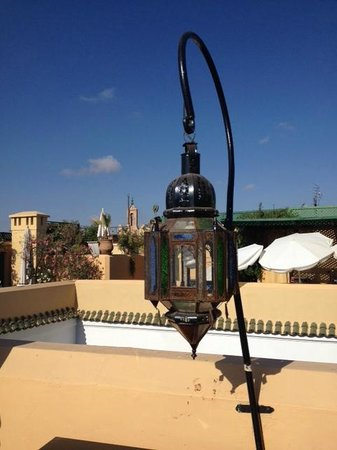 Riad Karmela: Vista dalla terrazza a colazione
