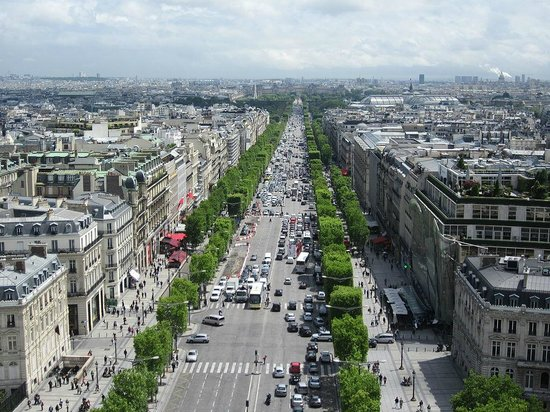 Champs-Elysees: The Champs Elysees seen from the Arc de Triomphe