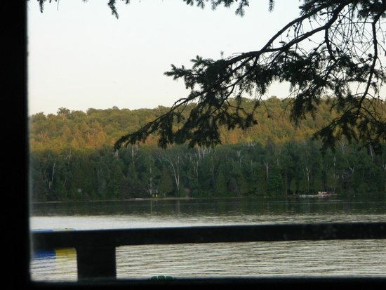 Oxtongue Lake Cottages: the view from our porch