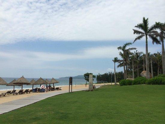 Wanda Vista Resort Sanya: Private beach area